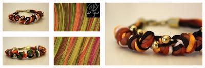 """Pulsera """"NUDOS""""  Disponible en más tonalidades.  Solo elige 5 colores y pídenos la tuya, tambíen disponible con las bolitas y el cierre plata.  Exclusive by ZARINA  Info.zarinadesigns@gmail.com"""