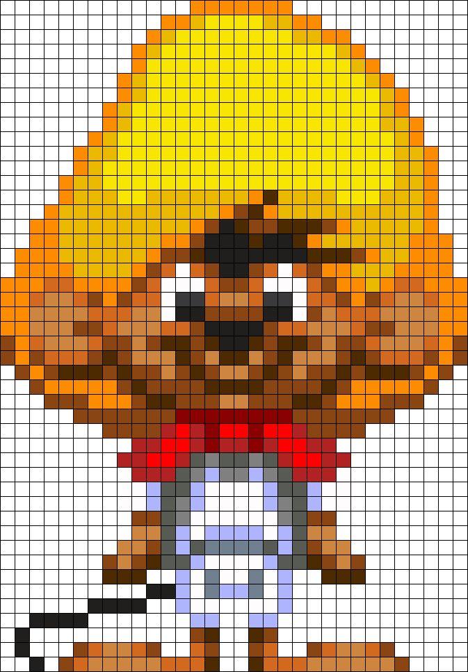 Speed Gonzales Perler Bead Pattern / Bead Sprite