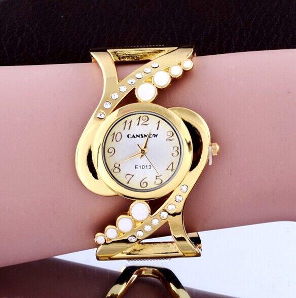 2015 estilo caliente venta mujer lujo Vintage reloj pulsera de cuarzo azul de la correa del reloj de mujer reloj. Feminino Relogio