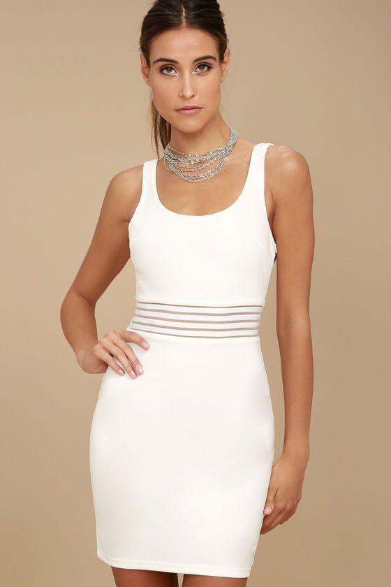 Pendulum White Bodycon Dress