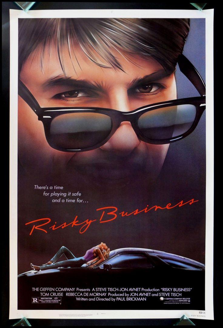 Risky Business 1sh Original Movie Poster CineMasterpieces Tom Cruise 1983 | eBay