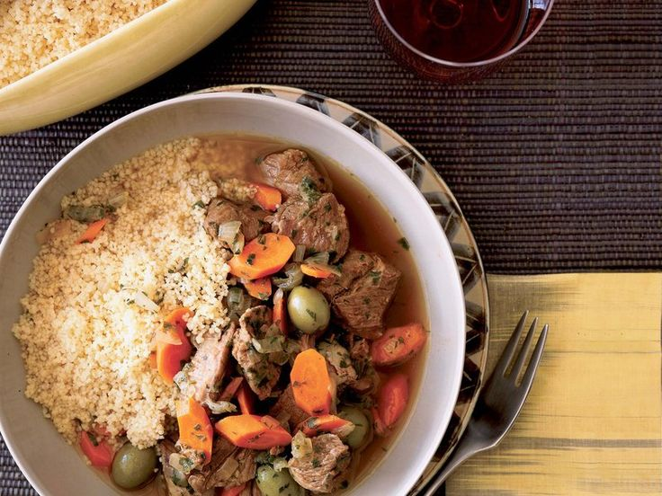 Lamb tagine with olives and lemon