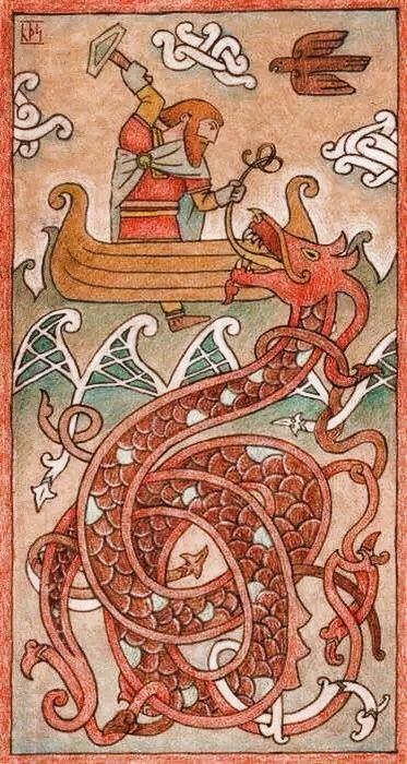 vikingbreme:Thor & Jormungand. | ♡::♡ Norse ...