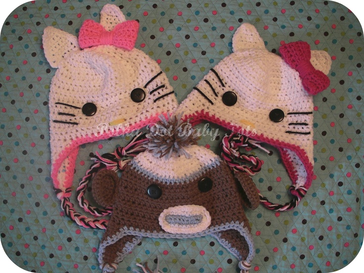 Hello Kitty inspired hats and a monkey