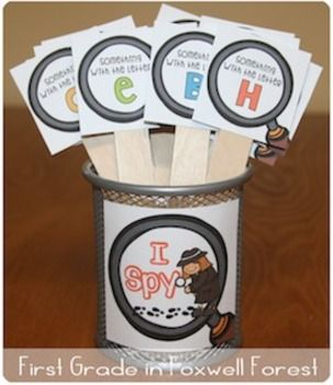 I SPY: Letters! Great for centers or brain breaks! The students LOVE doing I Spy in the classroom!