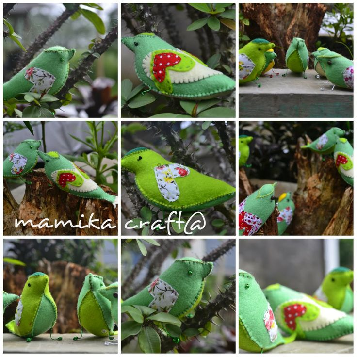 Mamika Extra Conner: felt bird