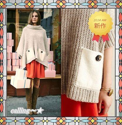梨花さん愛用!!関税・送料込!!★Anthropologie★Westwind Poncho 日本未入荷で、秋冬ファッションにオススメのポンチョです。トレンドのタートルネックと大きめポケットが印象的なデザインでゆるっとしたシルエットも可愛い1着です☆