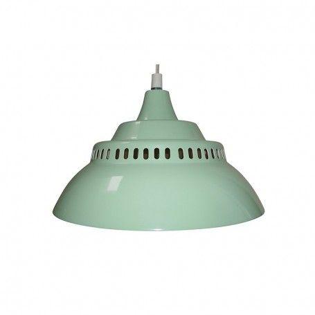 Geweldige hanglamp in retro stijl in #mintgroen De lamp heeft rondom kleine geperforeede gaatjes waardoor het licht een mooi effect krijgt. Gespot op @Jut en Juul Lifestyle for Kids