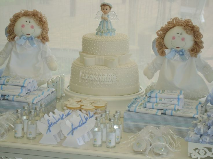 Boy Baptism Party Ideas In The Catholic Home More Baptism Decorations Ideas Angel