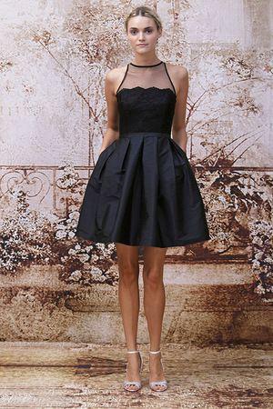 A sassy black #bridesmaid dress by Monique Lhuillier. #Love