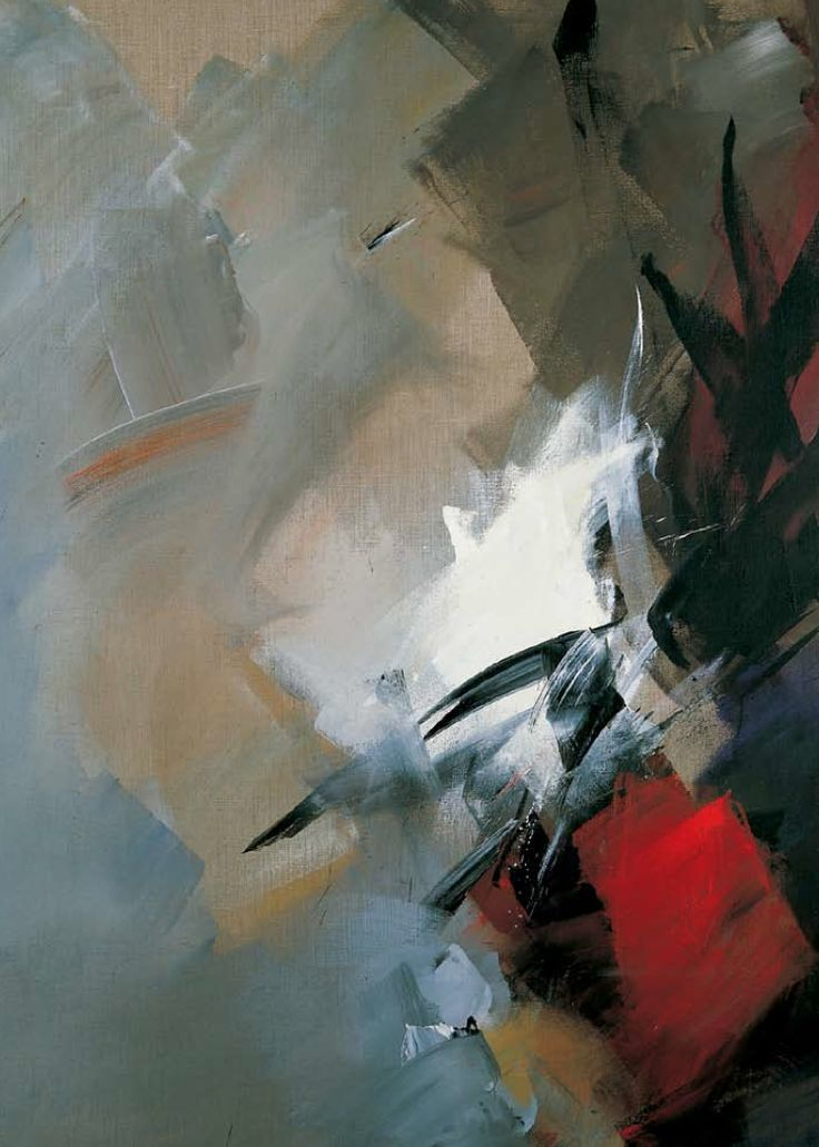"""""""Instant ébloui"""" (1979), by Jean Miotte. Acrylic on canvas. Non-figurative gestural abstraction (""""L'Art Informel"""" style). At the Chelsea Art Museum."""