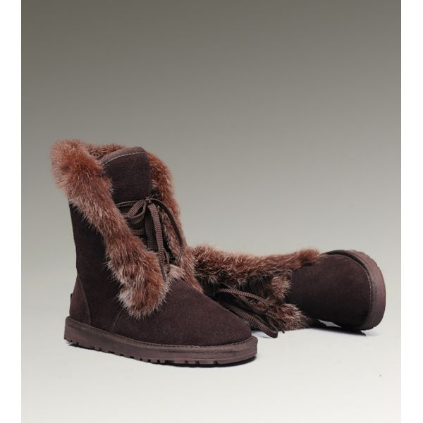 High Quality Ugg Fox Fur Short 3586 Boots For Clearance Sale UK