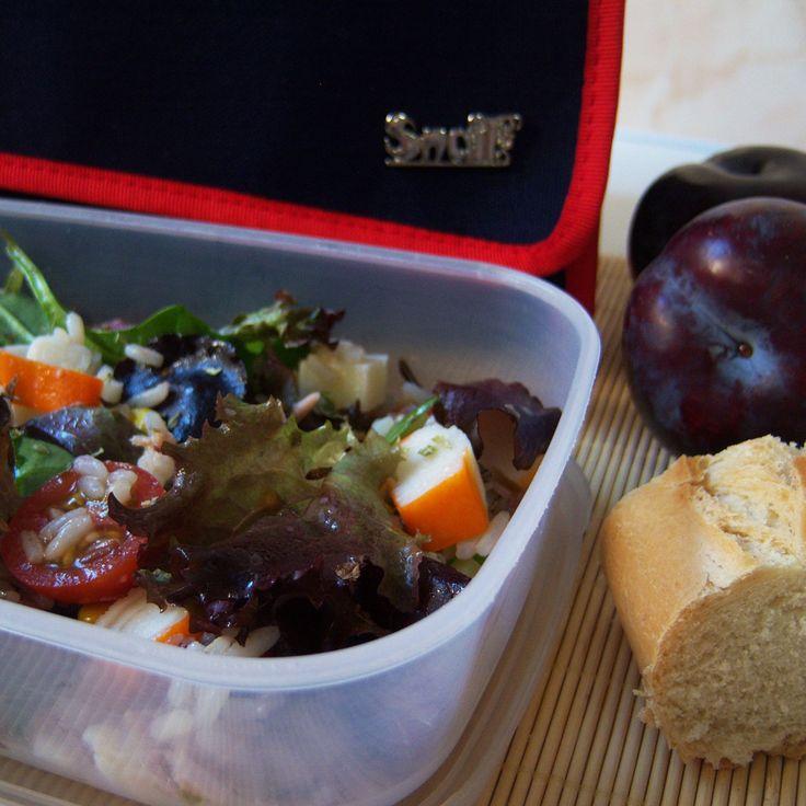 Ensalada de arroz y brotes tiernos con at n y surimi - Ensalada de arroz y atun ...