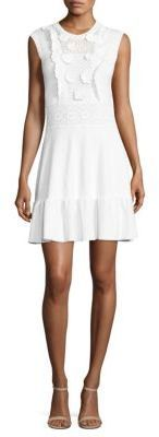 RED Valentino Appliqued Cotton Knit Dress