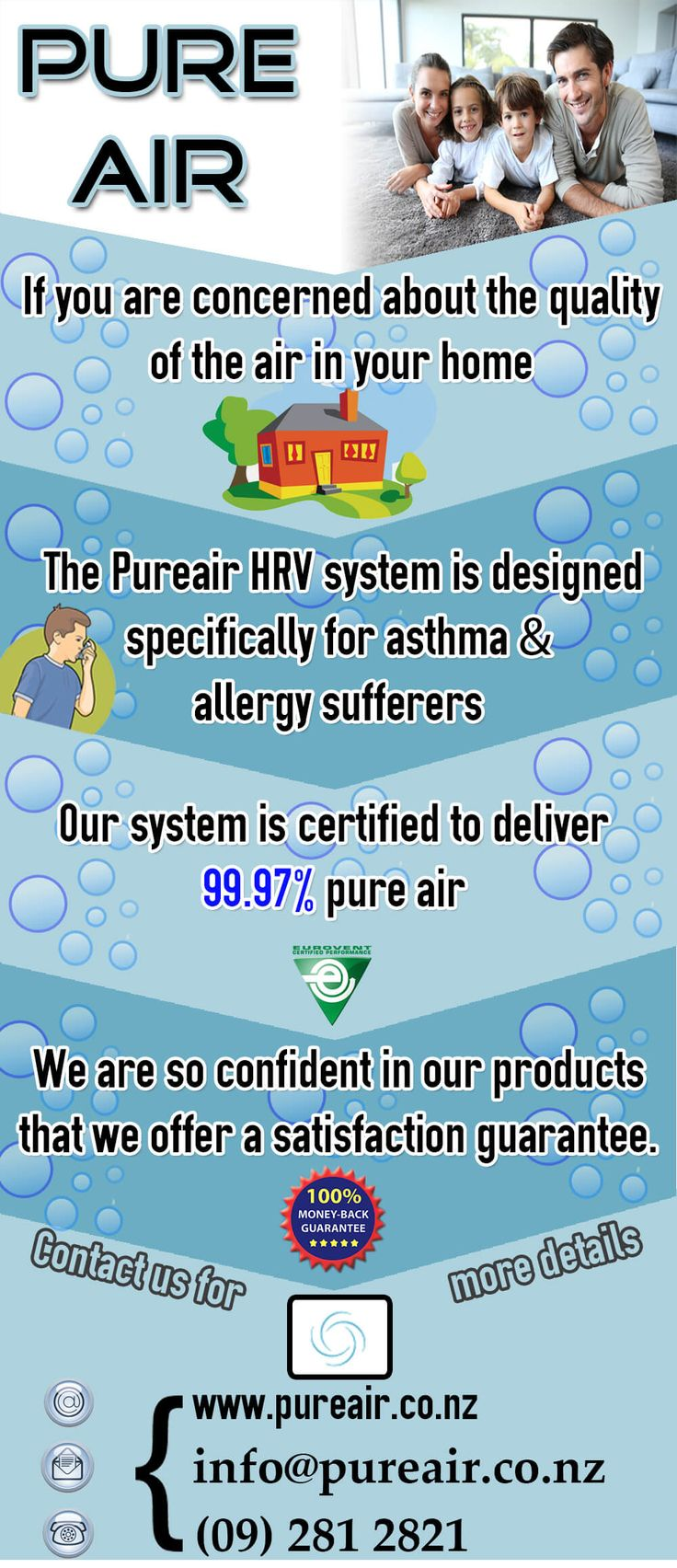 Pure Air   If you are concerned about the quality of the air in your home.
