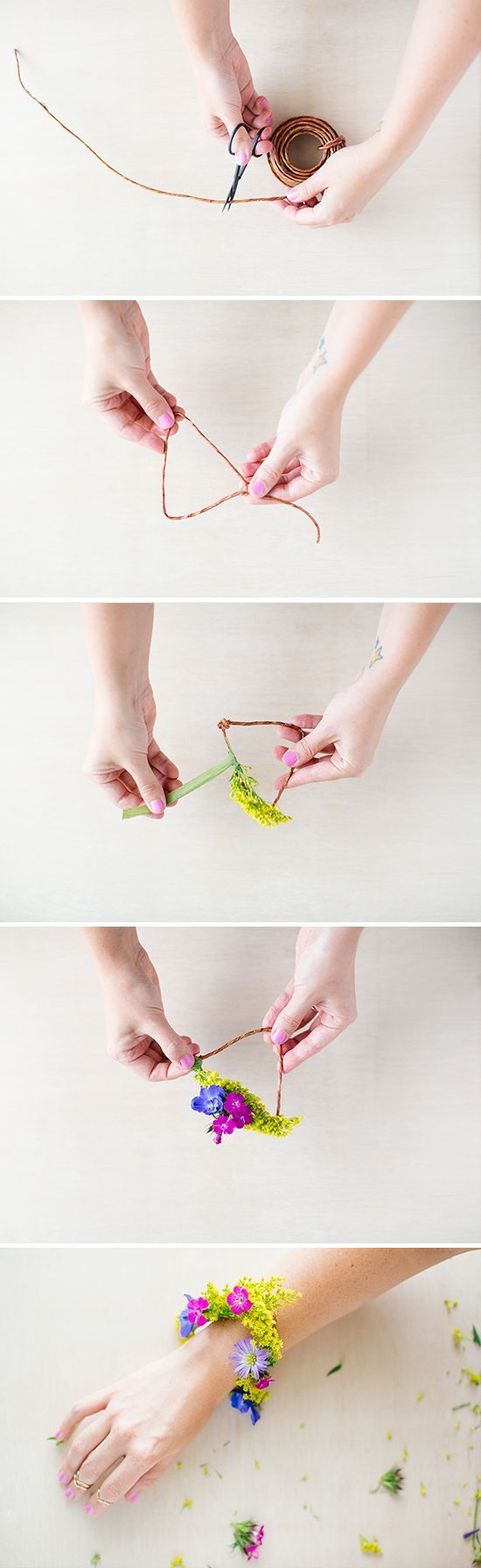 Get ready for spring with this DIY floral bracelet.