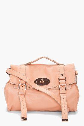 mulberry | alexa messenger bag | loving the leather color + rose gold hardware.