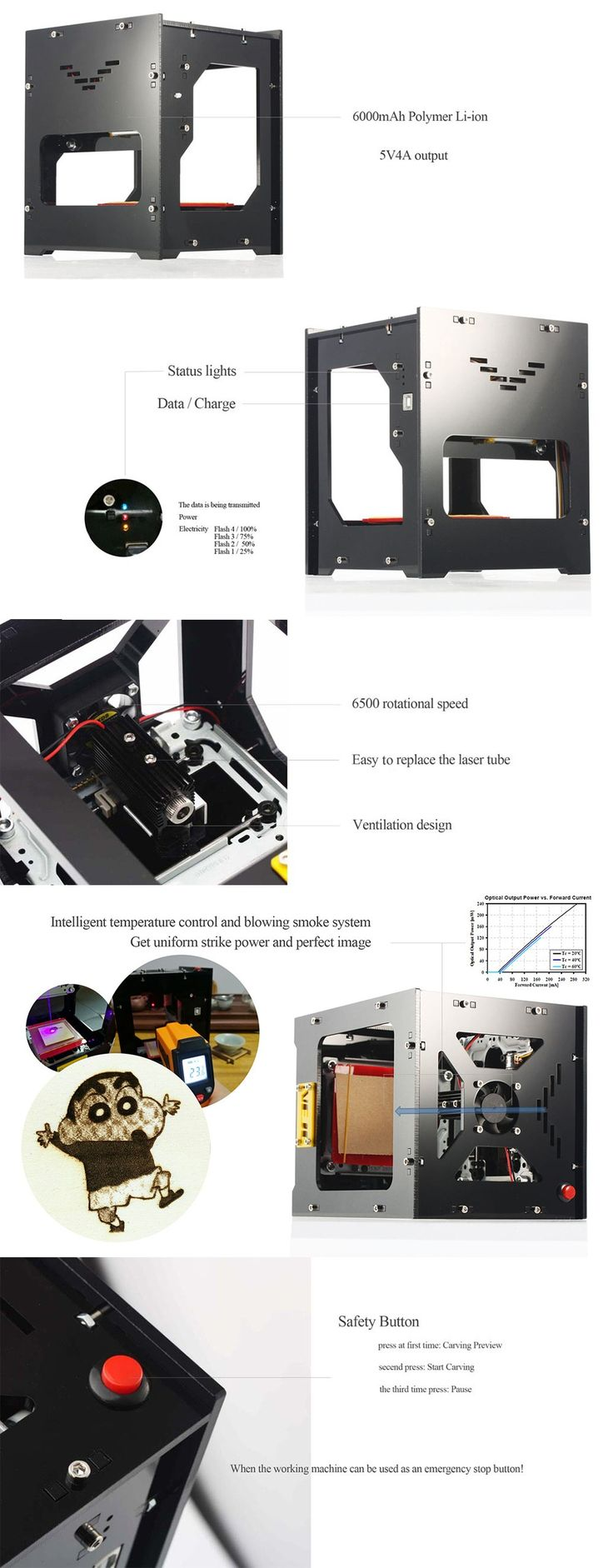 Only US$135.69, NEJE DK-8-FKZ Brand New 1500mW High Speed Mini USB Laser - Tomtop.com