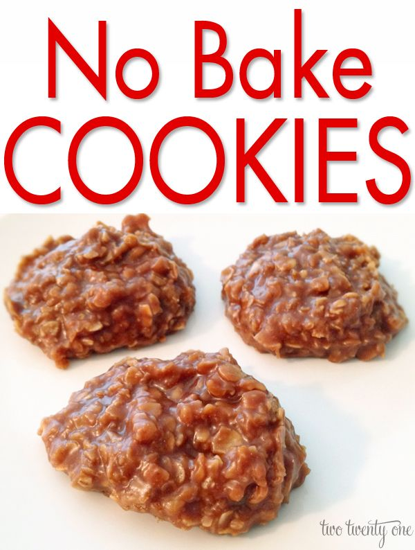 The BEST No Bake Cookies! I'm going to replace the butter with coconut oil and try agave instead of sugar