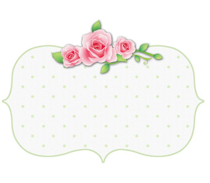 Printable Polka Dot Rose Tag/Label