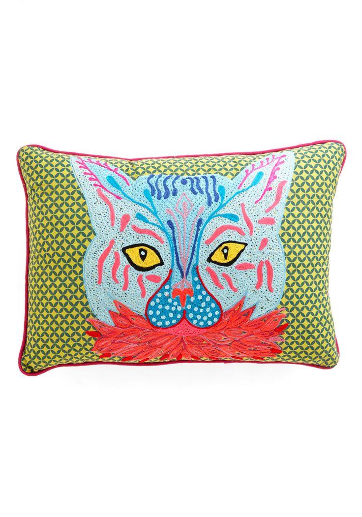 Back to Nature Graphic Sweatshirt Cat throw pillow
