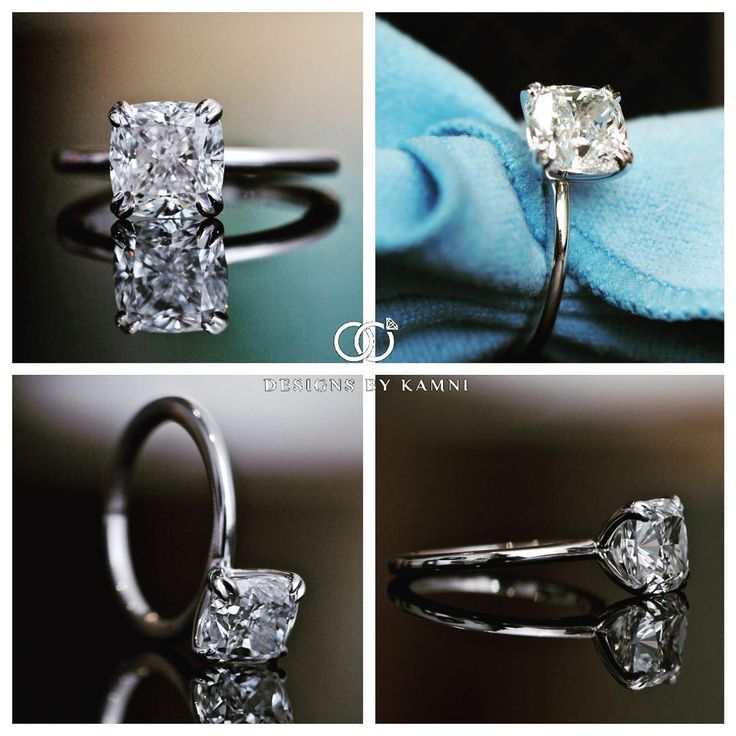 Just a 3ct Beauty  Double Prong Solitaire Setting with a Cushion Cut Center Diamond  Trust Your Jeweler! Kamni offers the finest selection of loose diamonds to fit any criteria and the custom design process is simple, fun and quick! Info@designsbykamni.com | 516-216-0015