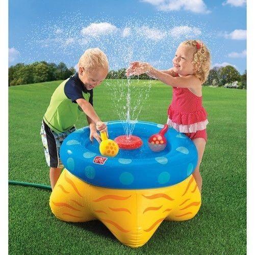 Step2 Wacky Water Inflatable Sprinkler Table Backyard Water Fun #Step2