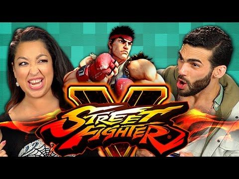 ADULTS PLAY STREET FIGHTER V (Adults React: Gaming) - YouTube