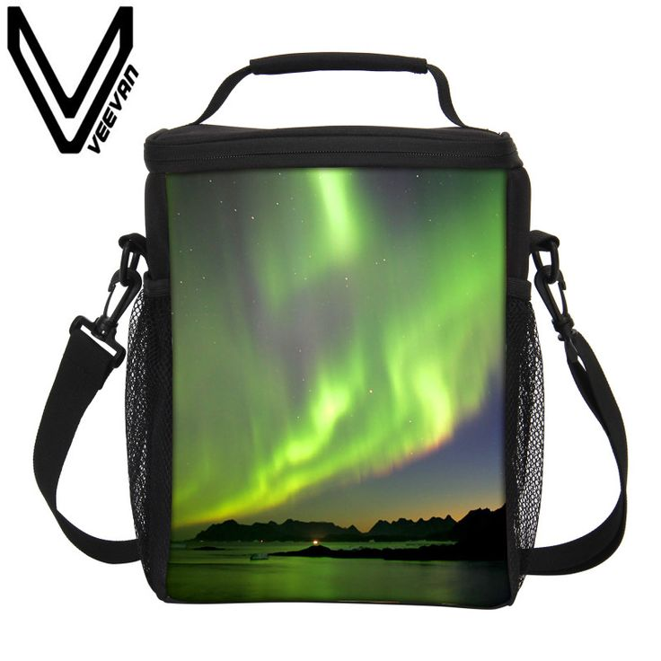 VEEVANV Brand 2017 Aurora Pattern 3D Thermal Insulated Lunch Bags Small Cooler Picnic Food Bag Fashion Girls Storage Lunch Bags