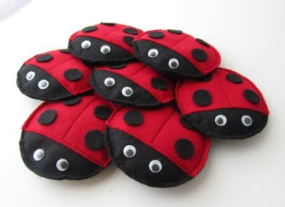 Create Ladybug Bean Bags. This also has game ideas with them. These double as a birthday party game and favor!