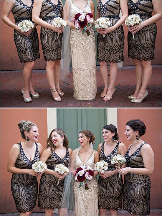 Vintage bridesmaid looks @weddingchicks