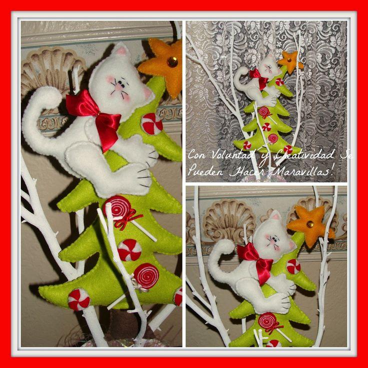 Hoy les voy a mostrar como hacer este bonito arbolito navideño en fieltro.