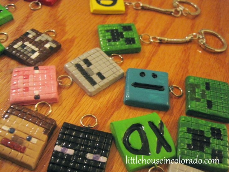 "Clay Minecraft Slime | The boy ""sold"" the key chains separately since he only had 24 of them ..."