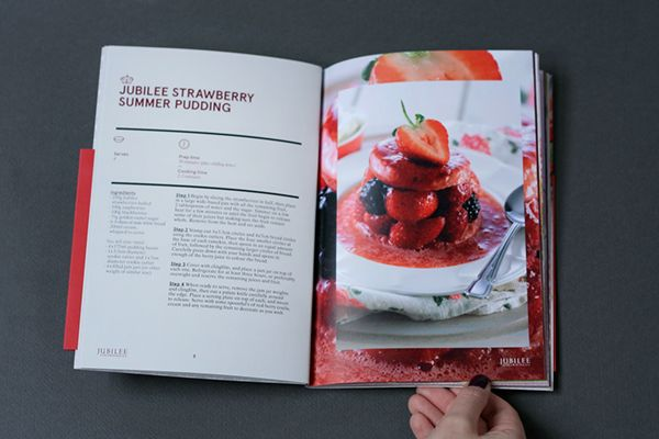 To promote their produce in the coming summer months, we were asked to design a premium-feel recipe book for Driscoll Jubilee Strawberries.  We were briefed to make the piece look fresh and appealing — it was important that the design and print reflected the quality of the Strawberries.  The short dust-jacket with silver foiling gave the piece a really high-end finish.  them.co.uk