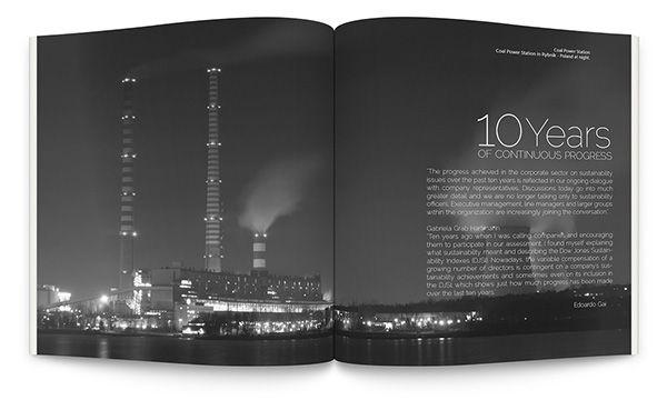 Sustainability Yearbook on Behance  Diseñadora gráfica, buen trabajo, lo recomiendo su nombre es Natalia Solano  / Graphic designer, good job, I recommend his name is Natalia Solano