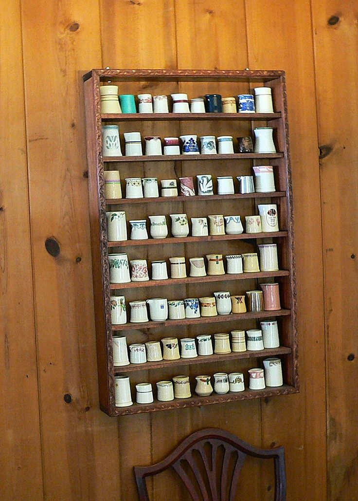 Shelving Made My Hubby, I Collect Restaurant Ware Creamers Without Handles.