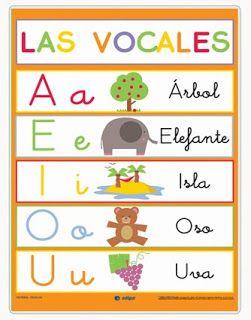 Las vocales mayúsculas y minúsculas. aparecen objetos, animales y ...