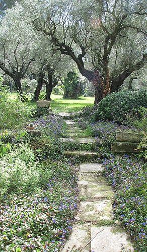Garden of Vallon Raget à Saint-Etienne-du-Grès, designed by Nicole Martin Raget