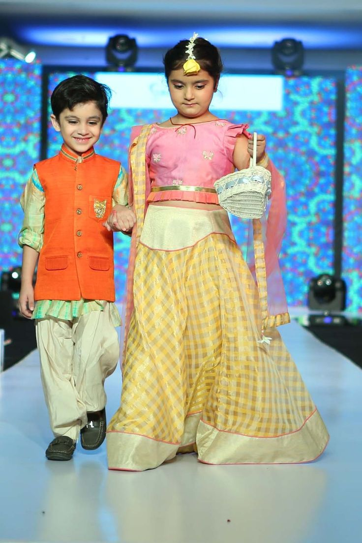 For the ethnic duo. Indian festivals are the time when you can make them look their ethnic best; try these traditional designs made in poppy colors, pleats and checks. #stylemylo #kidsfashion #kidswear #designerwear #kidsoutfit #newcollection #indianwear #onlineshopping #babyboy #babygirl #rakshabandhan