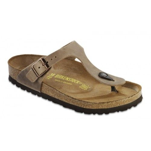 BIRKENSTOCK GIZEH TOBACCO BROWN / OILED LEATHER - REGULAR FIT