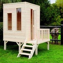 Cabane de jardin pour enfant sur pilotis