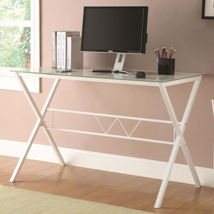 Desks With Glass Tops Desk Wall Art Ideas White Desk Design White Desk Office White Desks