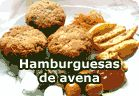 Hamburguesas de copos de avena. Recetas veganas de Vegetarianismo.net