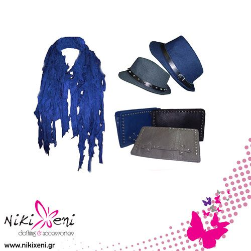 Hats and big clutches with pins rocking with a woolen scarf_fashion woman accessories.