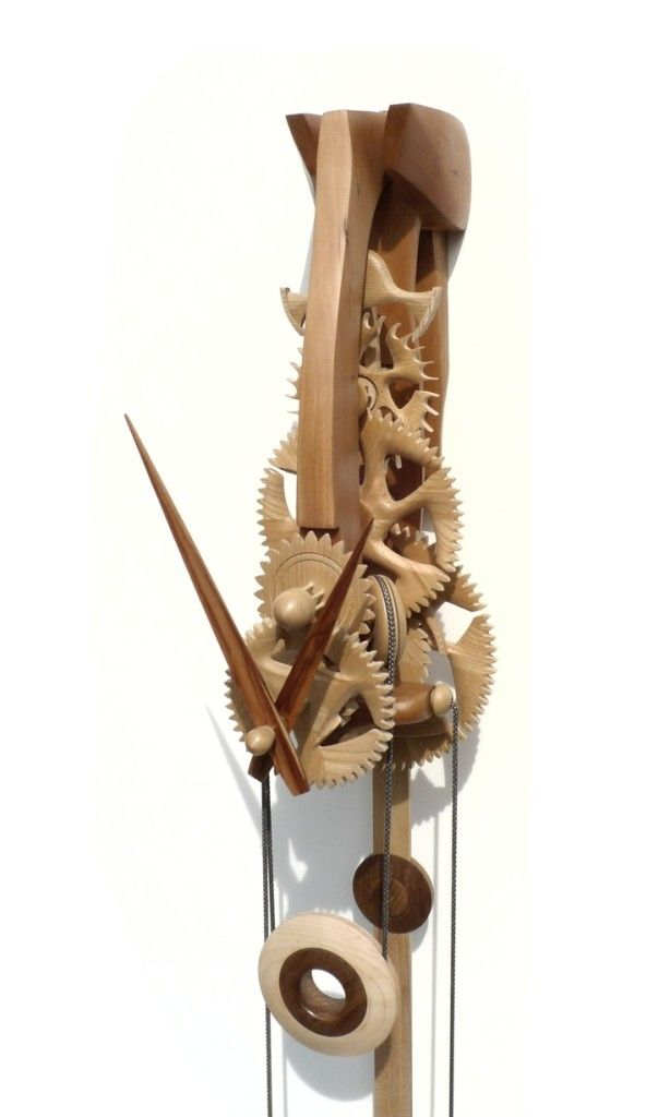 Vintage Wooden Gear Clock Wooden Thing