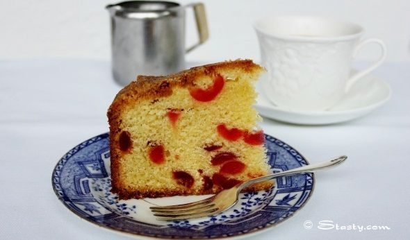 Cherry and Almond Cake | Cake Recipes | Pinterest