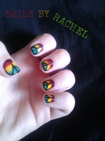 The 25 best hippie nails ideas on pinterest hippie nail art peace by charleeve198722 nail art gallery nailartgalleryilsmag by nails magazine www prinsesfo Gallery