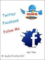 Floating Facebook And Twitter Follow Me Widget For Blogger