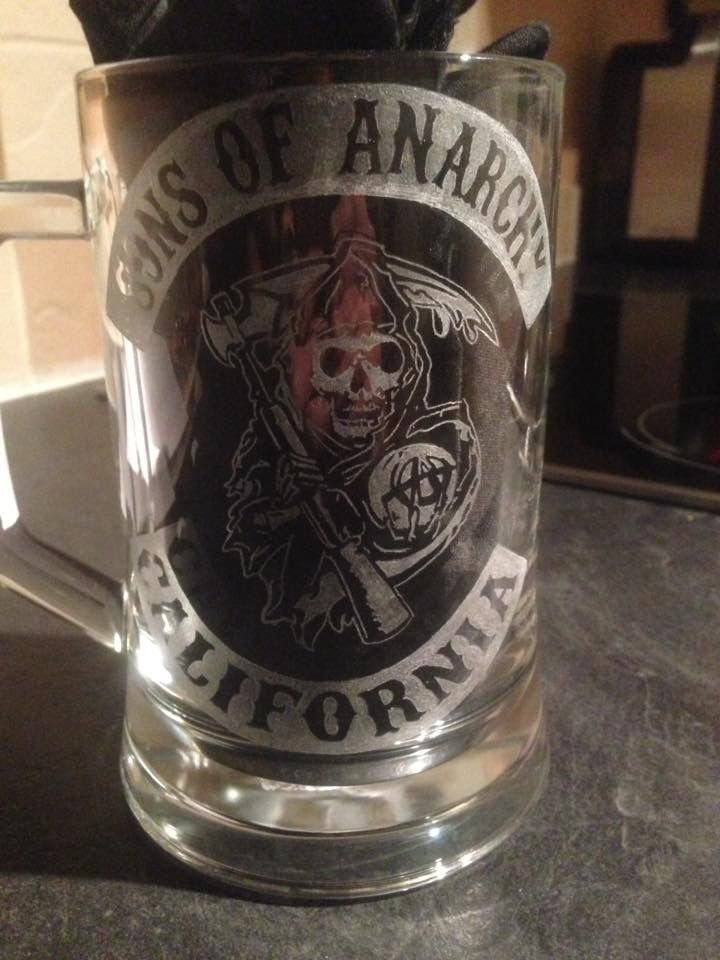 Sons of anarchy tanker hand engraved