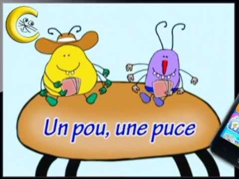 267 best chansons et comptines images on pinterest nursery rhymes songs and in french - Une puce un pou assis sur un tabouret ...